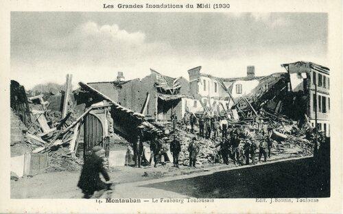 """Afficher """"Les Grandes Inondations du Midi (1930) - Montauban- Le Faubourg Toulousain"""""""