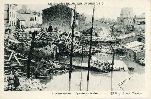 """Afficher """"Les Grandes Inondations du Midi (1930) - Montauban-Quartier de la Gare"""""""