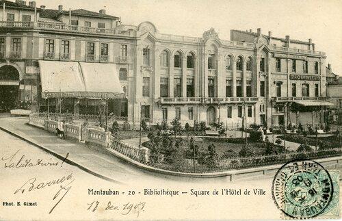 """Afficher """"Montauban : Bibliothèque - Square de l'Hôtel de Ville"""""""