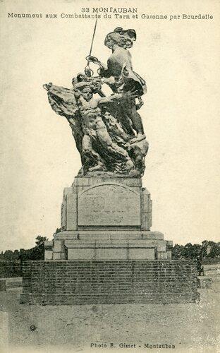 """Afficher """"Montauban - Monument aux Combattants du Tarn et Garonne par Bourdelle"""""""