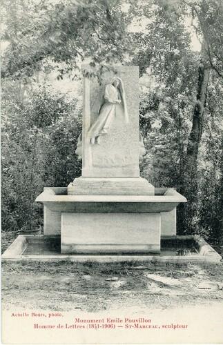 """Afficher """"Monument Emile Pouvillon, Homme de Lettres (1841-1906) - St-Marceau, sculpteur"""""""